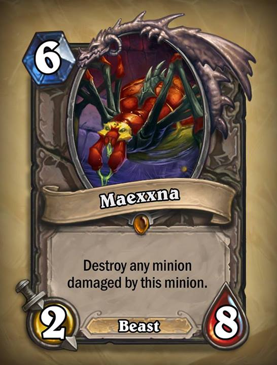 maexxna - Hearthstone Curse of Naxxramas Card