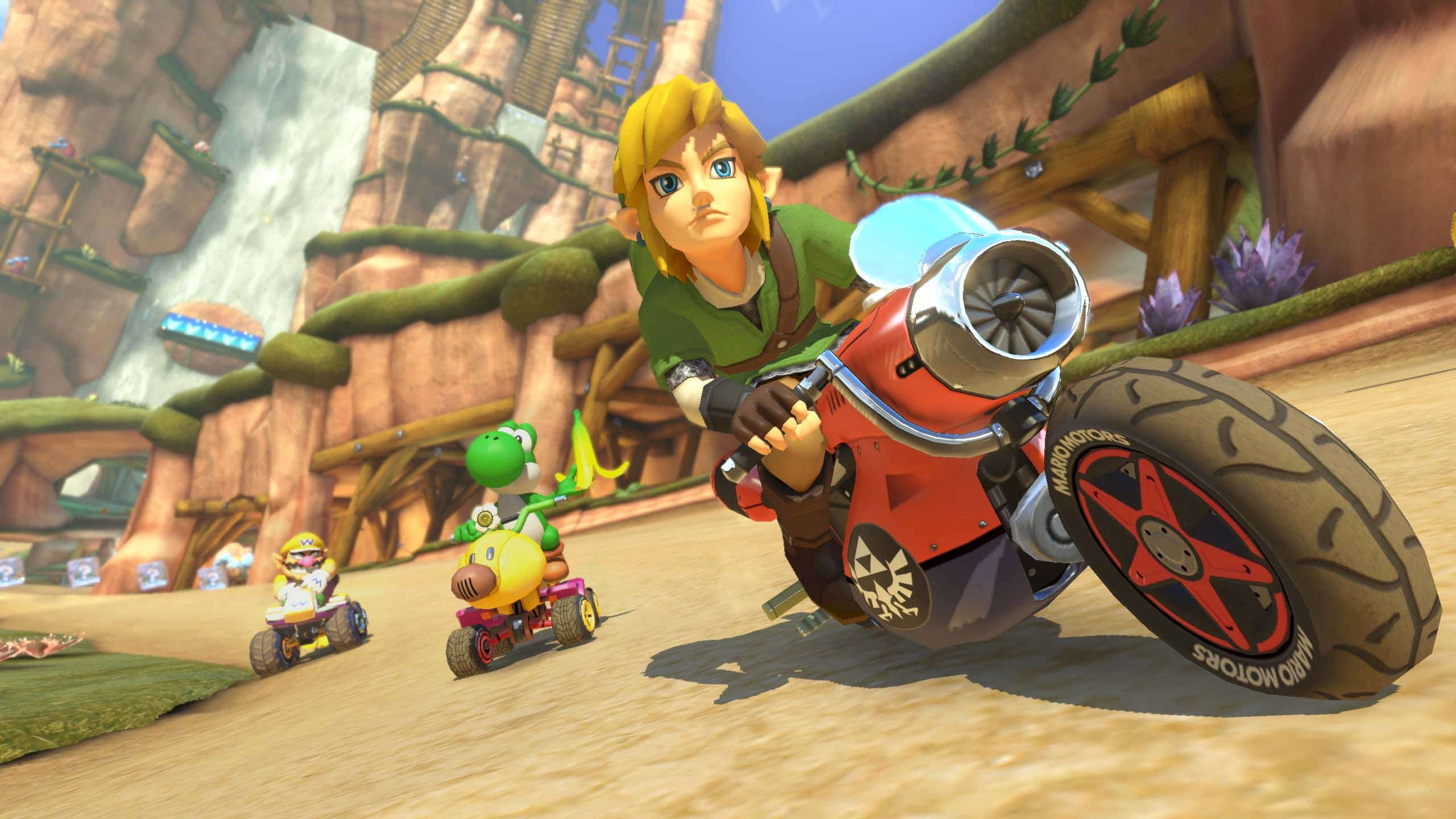 Link Legend of Zelda Mario Kart 8
