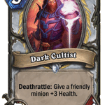 Dark Cultist - Hearthstone: Curse of Naxxramas Card