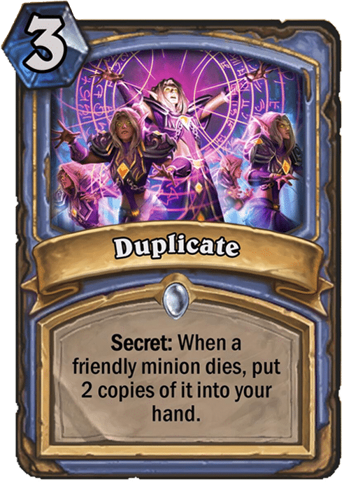 duplicate mage card Hearthstone curse of naxxramus