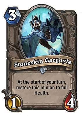 stoneskin gargoyle Neutral Card Hearthstone Curse of Naxxramas