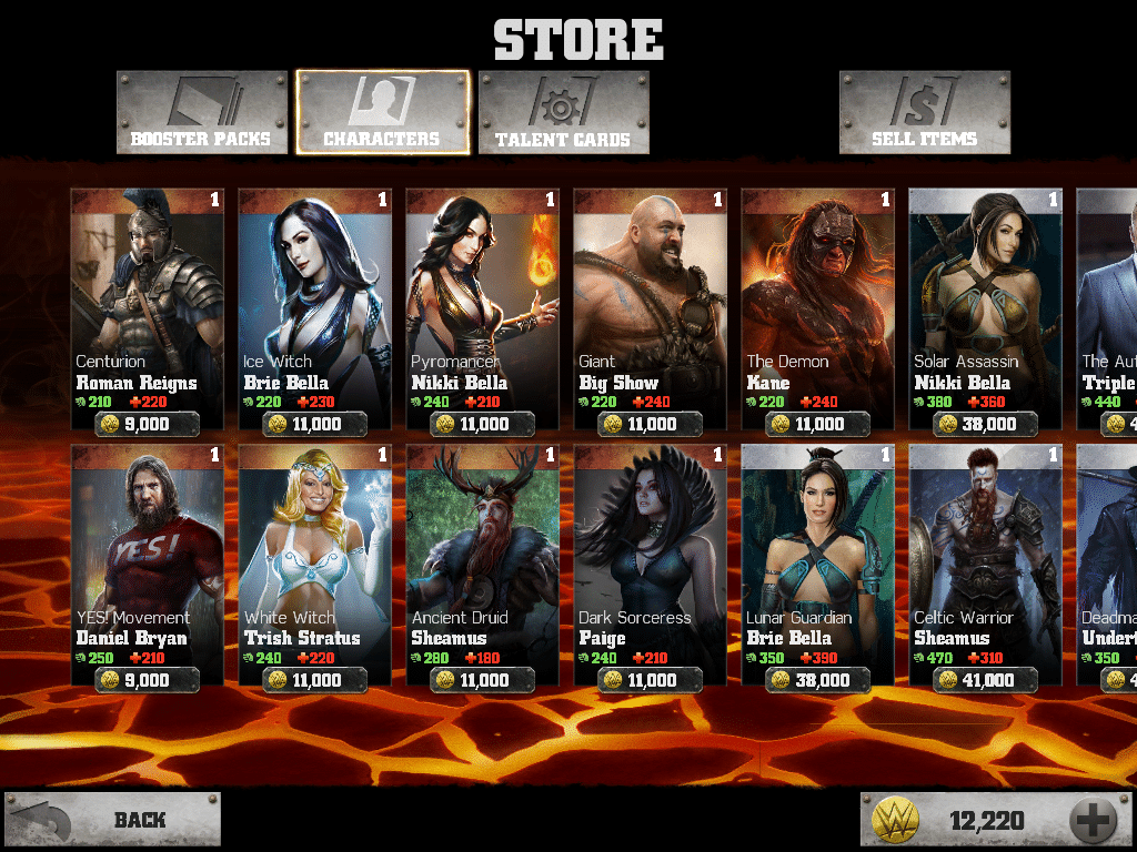 WWE Immortals Bronze Heroes screenshot