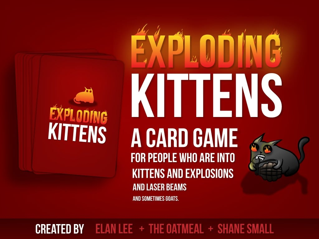 The Exploding Kittens Kickstarter Is Just Plain Crazy and We Love It!