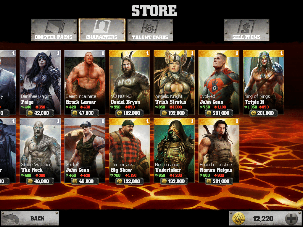 WWE Immortals Gold Heroes screenshot