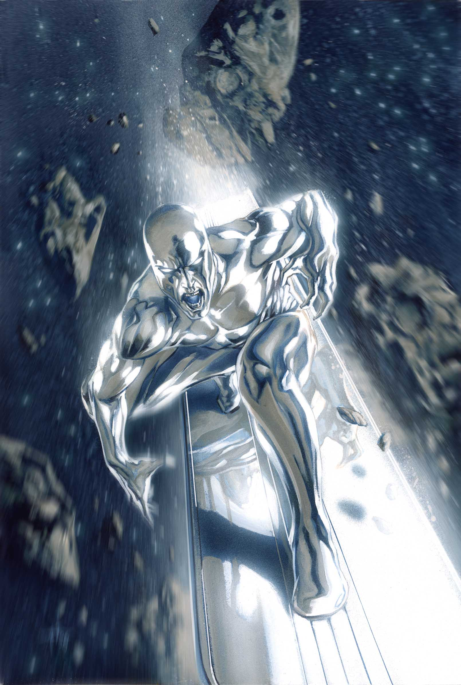 The Silver Surfer Marvel comics super hero
