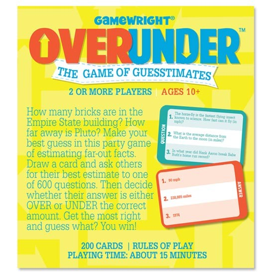 Board Game Review - Over Under - The Game of Guesstimates