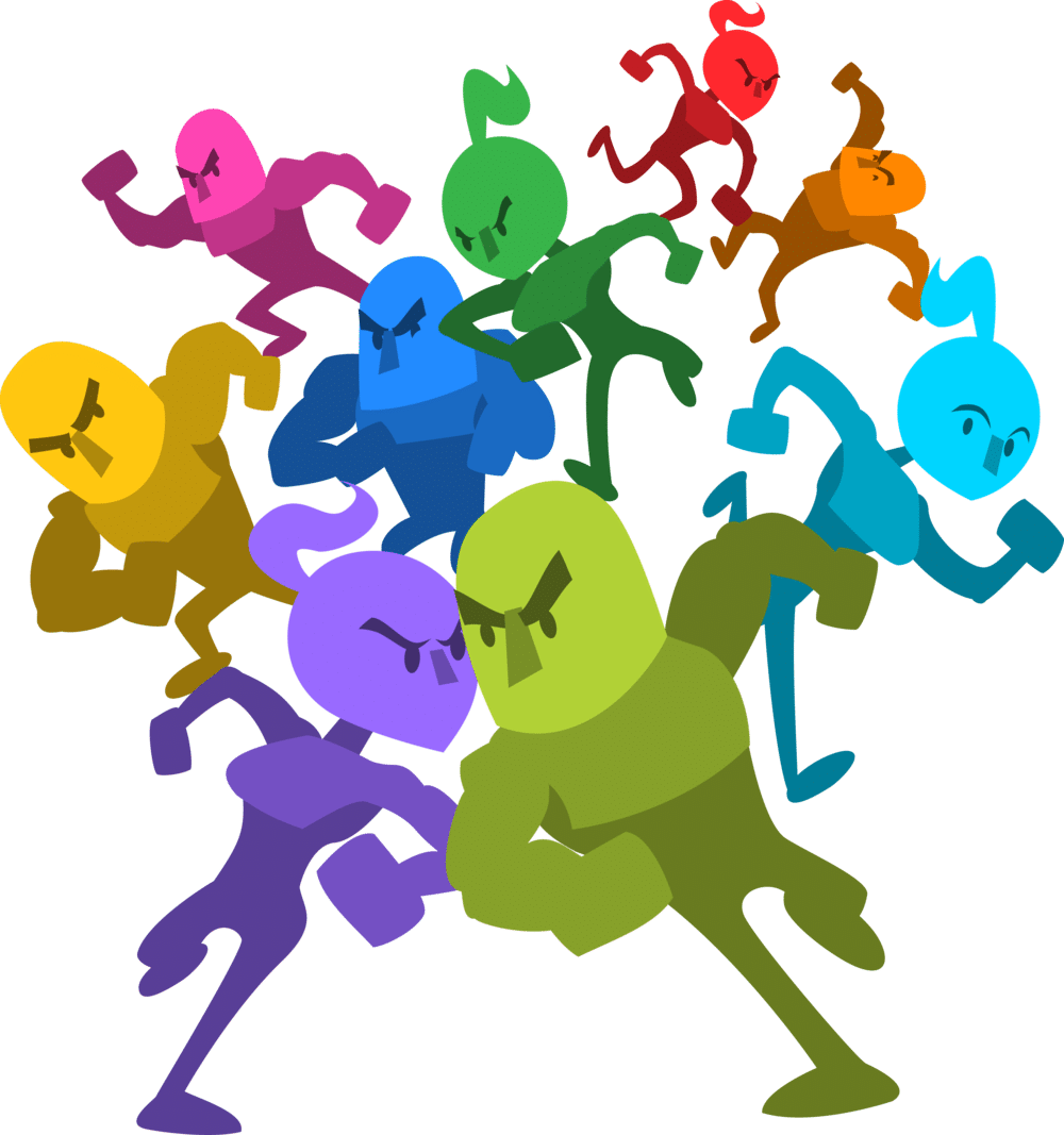 Runbow Character Art