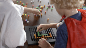 Bloxels with kids