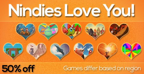 Nindies Love You Sale on Wii U Feb 11th through Feb 24th!