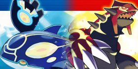 Legendary Pokemon Groudon and Kyogre