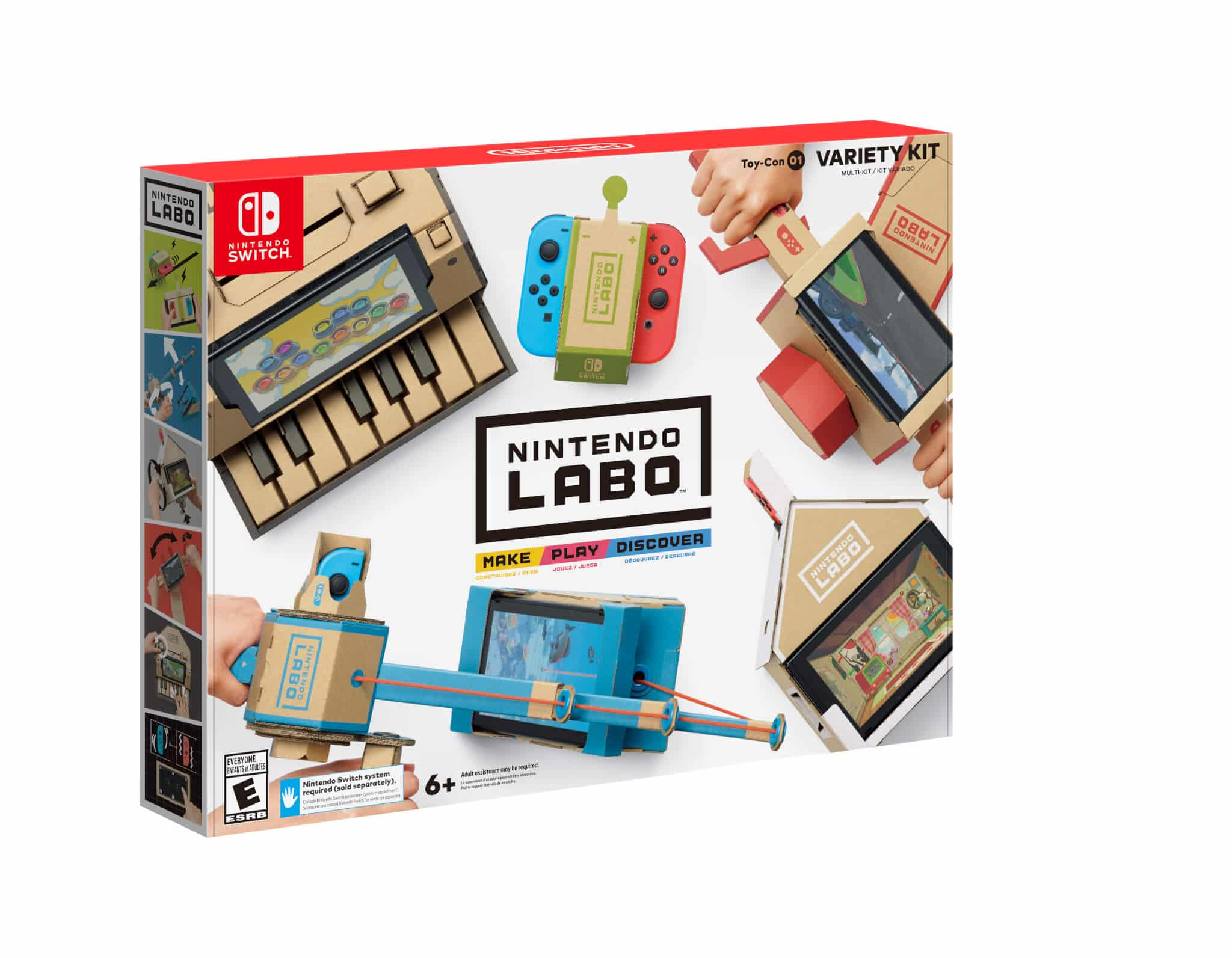 Nintendo Announces Labo: A Line of DIY Cardboard STEM Toys