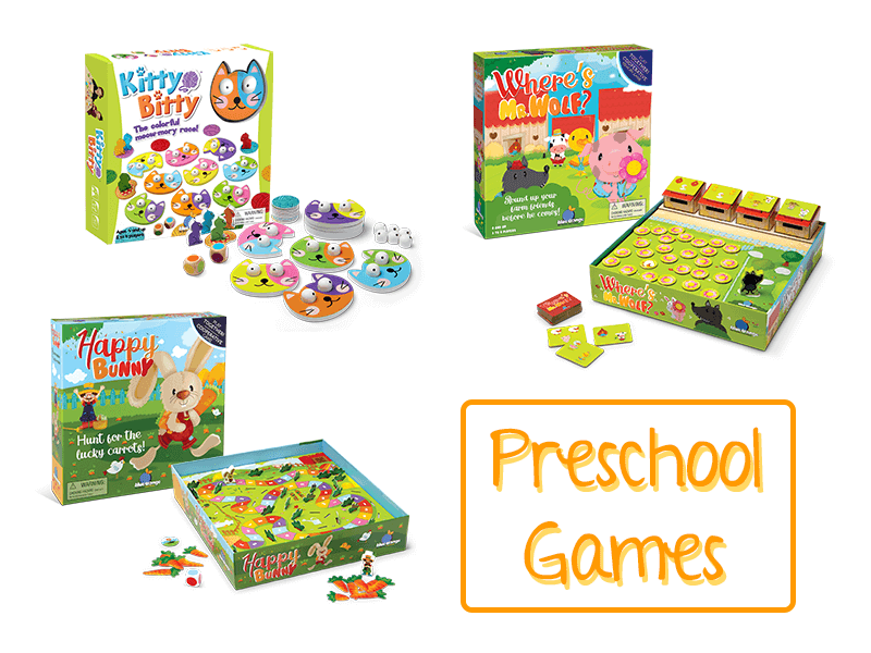 Board Game Recommendations for a Toddlers And Preschoolers(ages 2-4)