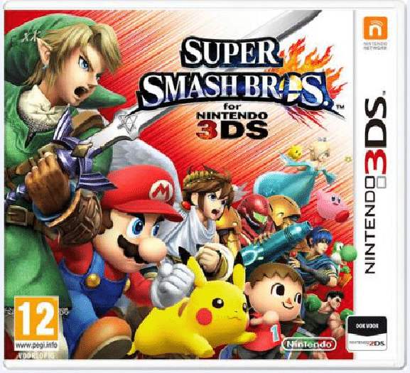 Super Smash Brothers 3DS Box Art