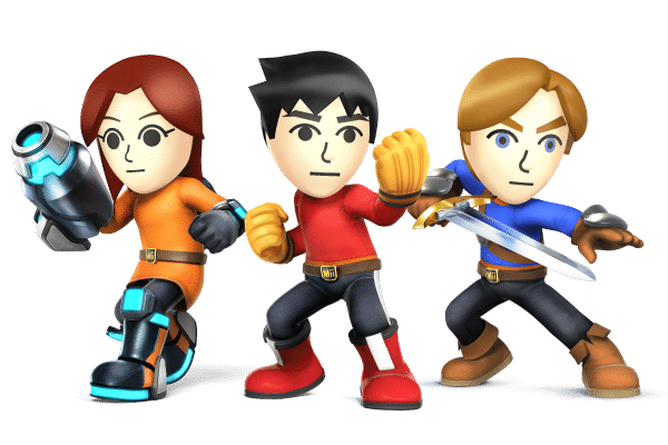 Super Smash Brothers Characters - Mii Fighters