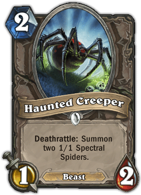 haunted creeper - Hearthstone Curse of Naxxramas Card