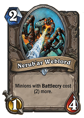 nerubar warlord - Hearthstone Curse of Naxxramas Card