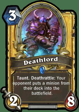 Deathlord Hearthstone: Curse of Naxxramas card
