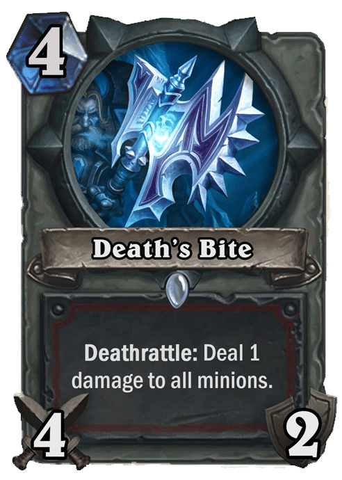 Death's Bite - Hearthstone: Curse of Naxxramas Card