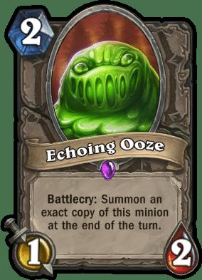 Echoing Ooze - Hearthstone curse of Naxxramas card