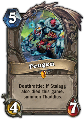 Feugen - Hearthstone: Curse of Naxxramas Card