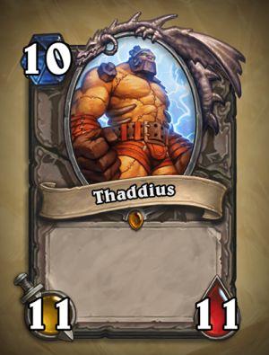 Thaddius- Hearthstone: Curse of Naxxramas Card