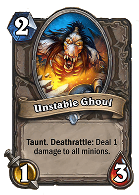 Unstable Ghoul Hearthstone Curse of Naxxramas Neutral card