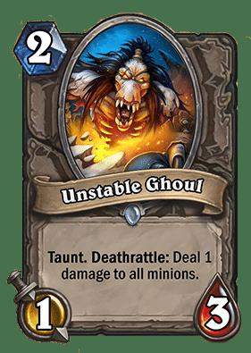 Unstable Ghoul Hearthstone Curse of Naxxramas Neutral card