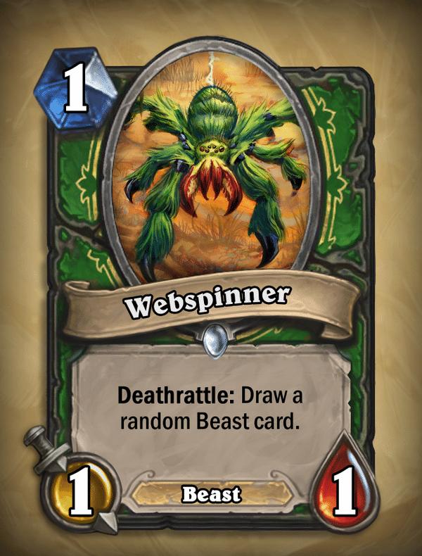 Webspinner Hunter Card Hearthstone Curse of Naxxramas