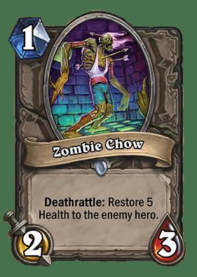 Zombie Chow - Hearthstone: Curse of Naxxramas Card