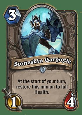 stoneskin gargoyle Neutral Card Hearthstone Curse of Naxxramas