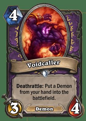 Voidcaller Hearthstone: Curse of Naxxramas card