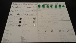 Dungeons and Dragons Character Sheet 6 yr old