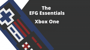 A rectangular image with a stylized image of a controller on the left and the words The EFG Essentials - Xbox One on the right